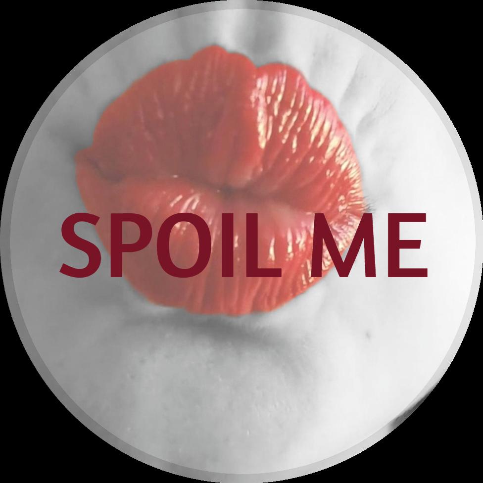 MissMetal Spoil me cover. Close-up of MissMetal's red lip blowing a kiss. MissMetalx Miss-Metal.com